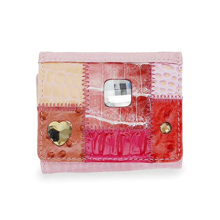 ミケランジェロ 三つ折り財布 ピンク